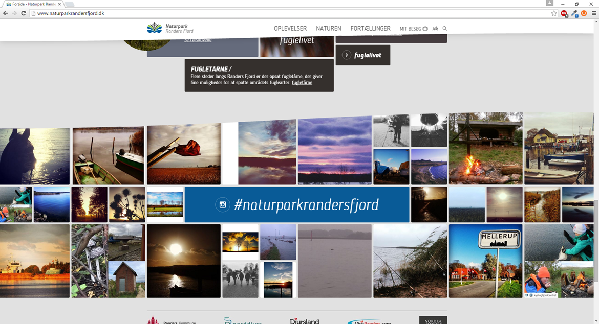 The website of Naturpark Randers Fjord